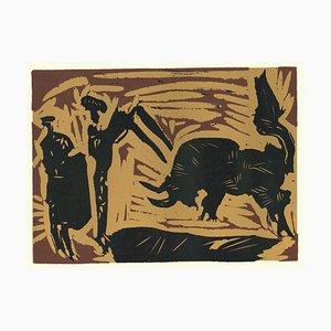 Linoret originale d'après Pablo Picasso - 1962 1962