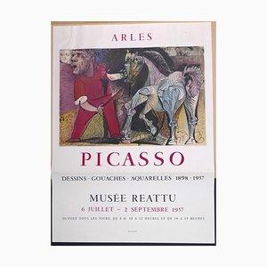 Picasso Vintage Ausstellungsplakat in Arles - 1957 1957