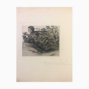 L'ennemi est en Vue - Original Etching by Anselmo Bucci - 1915 1915