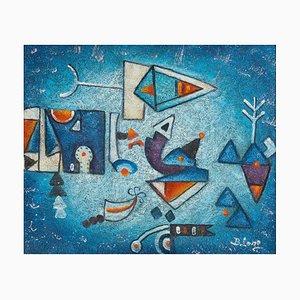 Abstrakte Komposition - Mixed Media auf Leinwand von Harry Belong - 2000er 2000er