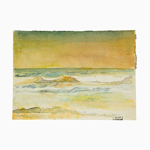 Horizon - Watercolor on Paper by H. Espinouze - mid 20th Century Mid 20th Century