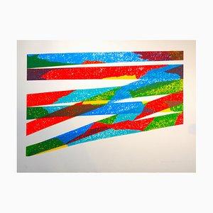 Color Composition - Original Lithograph by Piero Dorazio - 1976 1976