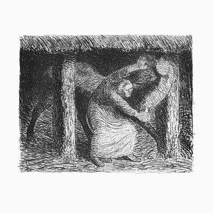 Die Mörderin - Original Lithograph by Ernst Barlach - 1912 1912