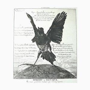 Margot La Critique - Radierung, Aquatinta und Kaltnadel von F. Braquemond - 1854 1854
