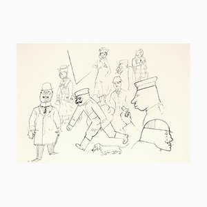 Strassenszene - Original Lithograph by George Grosz - 1923 1923