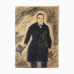 Portrait - Original Pastell und Aquarell Zeichnung von E. Klepper - 1957 1957