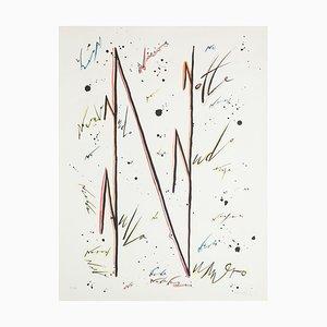 Buchstabe N - Variation - Hand-Colored Lithographie von Raphael Alberti - 1972 1972
