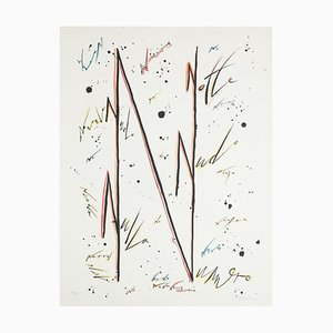 Letter N - Variation - Hand-Colored Lithograph by Raphael Alberti - 1972 1972