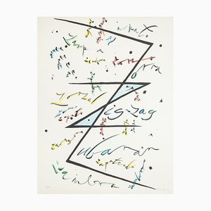Letter Z - Hand-Colored Lithograph by Raphael Alberti - 1972 1972
