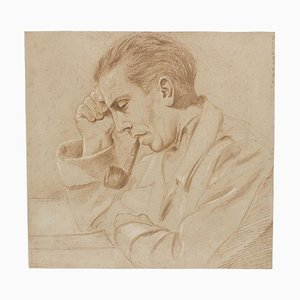 Portrait - Pencil Drawing by Pierre Daboval - Late 20th Century Late 20th Century