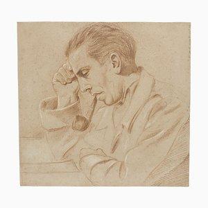 Retrato - Lápiz de Pierre Daboval - Finales del siglo XX Finales del siglo XX
