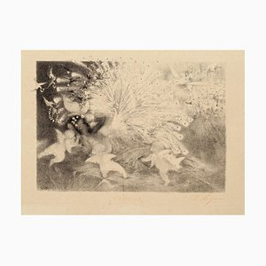 Reverie (Dream) - Original Lithograph by Théo P. Wagner - 1870s 1870s