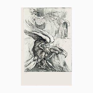Eagles - Original Radierung von M. Chirnoaga - spätes 20. Jahrhundert spätes 20. Jahrhundert