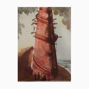 Turris Babel - Original Lithographie von S. Dalì - 1964 1964