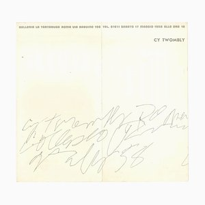 Vintage Cy Twombly Exhibition Leaflet - 1958 1958