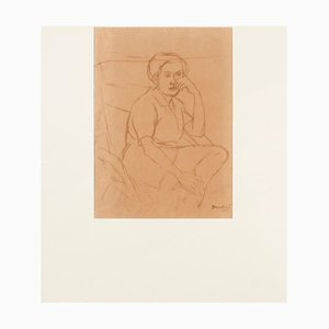 Portrait - Original Watercolor by Orfeo Tamburi 1943 1949