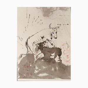 Leo Quasi Bos Comedens Paleas -Original Lithografie von S. Dalì - 1964 1964