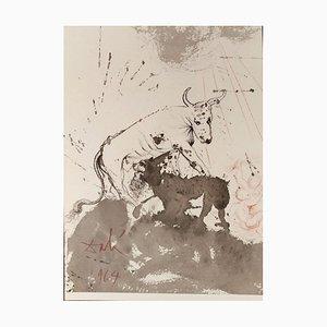 Leo quasi Bos Comedens Paleas -Original Lithograph by S. Dalì - 1964 1964