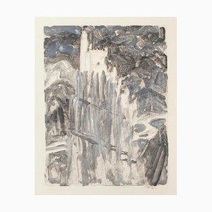 Castle - Original Lithograph by Denise Bonvallet-Philippon - 20th Century 20th Century