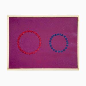 Cerchi rosa - Dipinto originale in acrilico di Mario Bigetti - 2020 2020