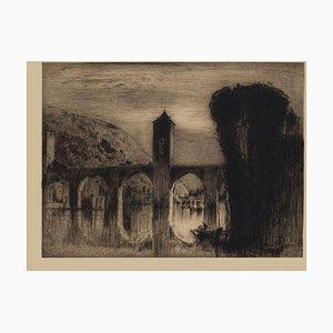 Bridge- Original Radierung von Frank Brangwyn - Mid-20th Century Mid 20th Century