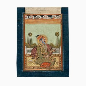 Indian Sultan - Original painting in Mixed Media on Paper - 19th Century 19th Century