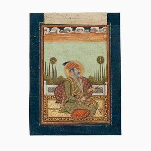 Indischer Sultan - Original Gemälde in Mischtechnik auf Papier - 19. Jahrhundert 19. Jh