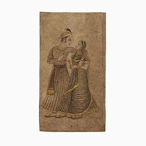 Lovers - Original Drawing on Paper in Mixed Media - 19th Centyury Late 19th Century