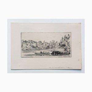 Landscape - Original Etching on Paper by Arthur Evershed - 1876 1876
