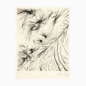Cosmic Garden - Gravure à l'Eau-Forte et Pointe Sèche par R. Castello - 1964 1964