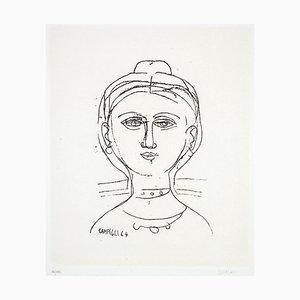 Woman - Original Etching by M. Campigli - 1964 1964
