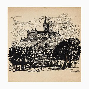 Church - Original Lithograph on Paper, by Jean Paul Riopelle - 20th Century 20th century
