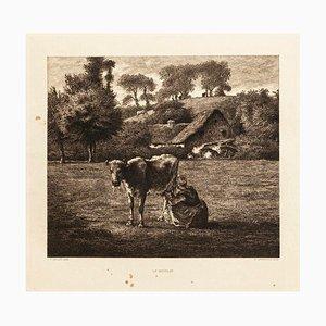 Le Moulin - Original Etching after J.F. Millet - 1880 1880