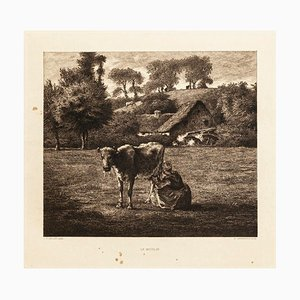 Le Moulin - Original Radierung nach JF Millet - 1880 1880