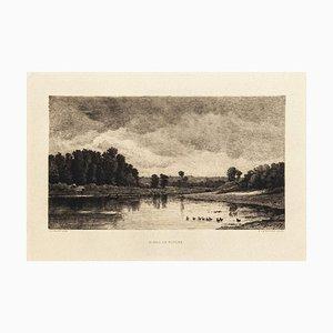 Bords de Rivière - Original Etching by Charles-François Daubigny - 19th Century 19th Century