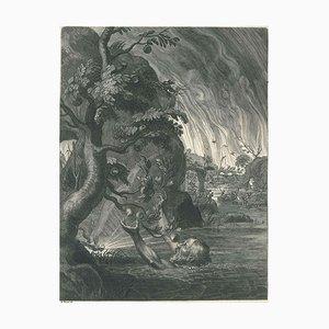 Tantale, von '' Le Temple des Muses '' - Original Radierung von Bernard Picart - 1742 1742