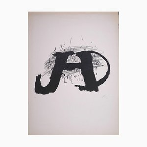 Untitled - Original Lithograph by Antoni Tapies - 1979 1974