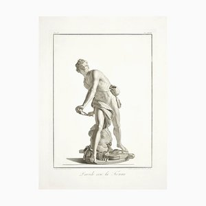 David with the Sling - Etching by A. Campanella After S. Tofanelli - 1821 1821