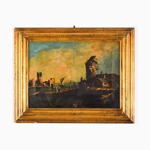 Paisaje con ruinas después de la destrucción - Óleo sobre lienzo - Siglo XVII Siglo XVII