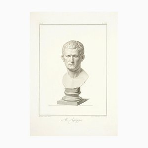 Bust of M. Agrippa - by G. Foto After B. Nocchi - 1821 1821