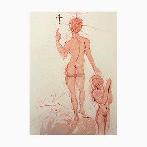 Asperges mich Hyssopo et Mundabor - Original Lithographie von S. Dalì - 1964 1964