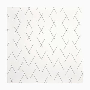 Intersecting Lines - Plate 3 - Original Screen Print by François Morellet - 1975 1975