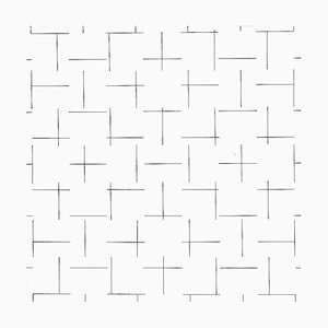 Intersecting Lines - Plate 4 - Original Screen Print by François Morellet - 1975 1975