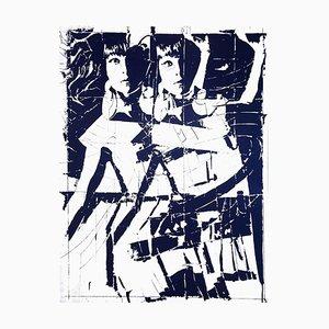 Women Sheet - Original Screen Print on Metal by Giosetta Fioroni - 1970s 1970s