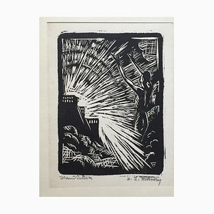 The Evocation - Original Woodcut - Early 20th Century Early 20th Century