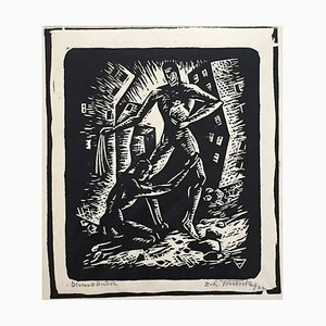 The Plea - Original Woodcut - Early 20th Century Early 20th Century