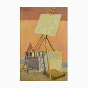 The Easel - Original Oil on Canvas by Paul Nicholls 1967 1967