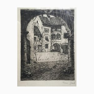 Country House - Original Etching mid 20th Century