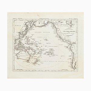 Antike Karte von Ozeanien - Original Radierung - 19. Jahrhundert 19. Jahrhundert
