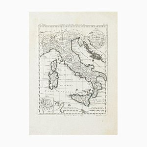 Ancient Map of Italy - Original Etching - 19th Century 19th Century